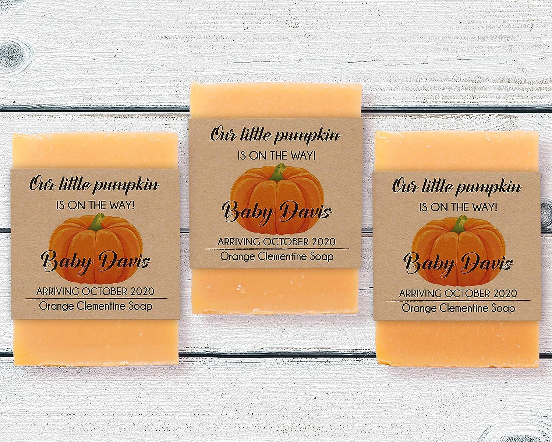 pumpkin mini soap favors set of 20 or more Pumpkin soaps