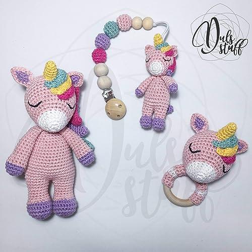 Unicorn crochet amigurumi - Step by Step - YouTube | 500x500