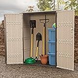 Lifetime 60280 Vertical Storage Shed, Desert Sand