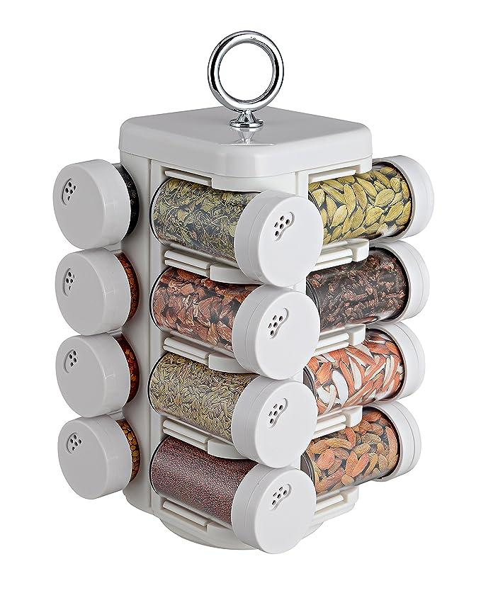 JVS reg;Kitchen Mate 16 Jar  Solid White  Spice Jars