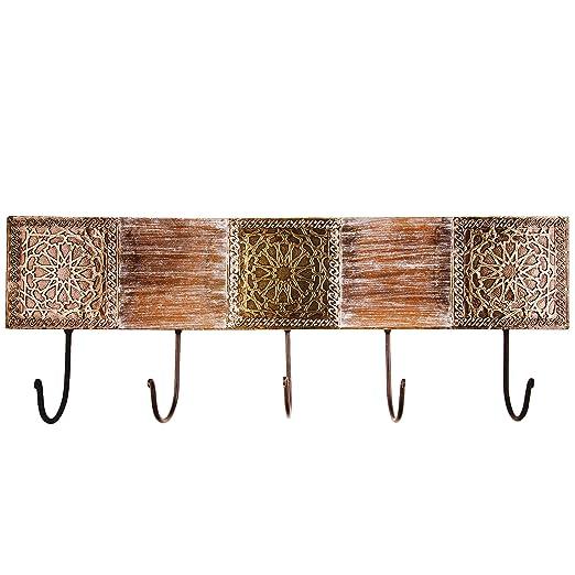 Vintage perchero gancho amolika grande 50 cm Grande gancho | 5 ganchos gancho de pared para la pared o puerta | colgador perchero Ganchos de metal | ...