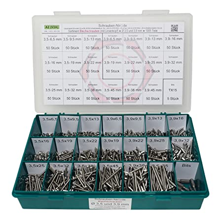 100 Blechschrauben DIN 7981 Edelstahl VA TORX Linsenkopf 4,8mm Blechschraube