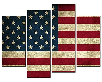 Amazon.com: SmartWallArt - American Flag of the United States Wall ...