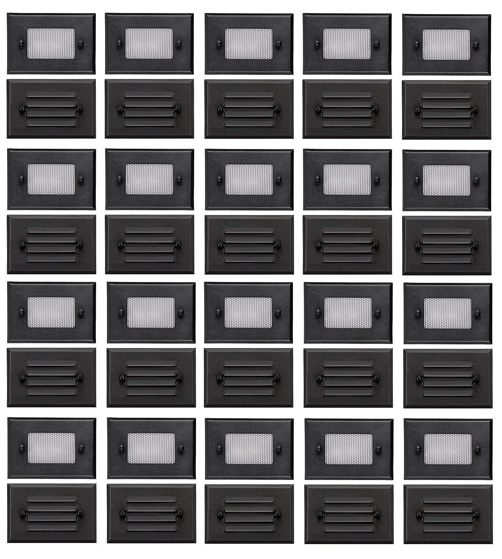 20 Pack of Malibu 8301-2402-20 Half Brick Deck Step Light w/ 2 Lenses ea, 7 Watt, Black Finish BY MALIBU DISTRIBUTION by Malibu B01L81XL6Y