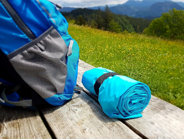 Esterilla hinchable con almohada integrada MOUNTREX para camping y exteriores incluye kit de reparaci/ón ultraligera y resistente al agua
