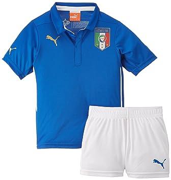 Puma Trikot Figc Italia Home Minikit - Camiseta de equipación de fútbol para niño, color