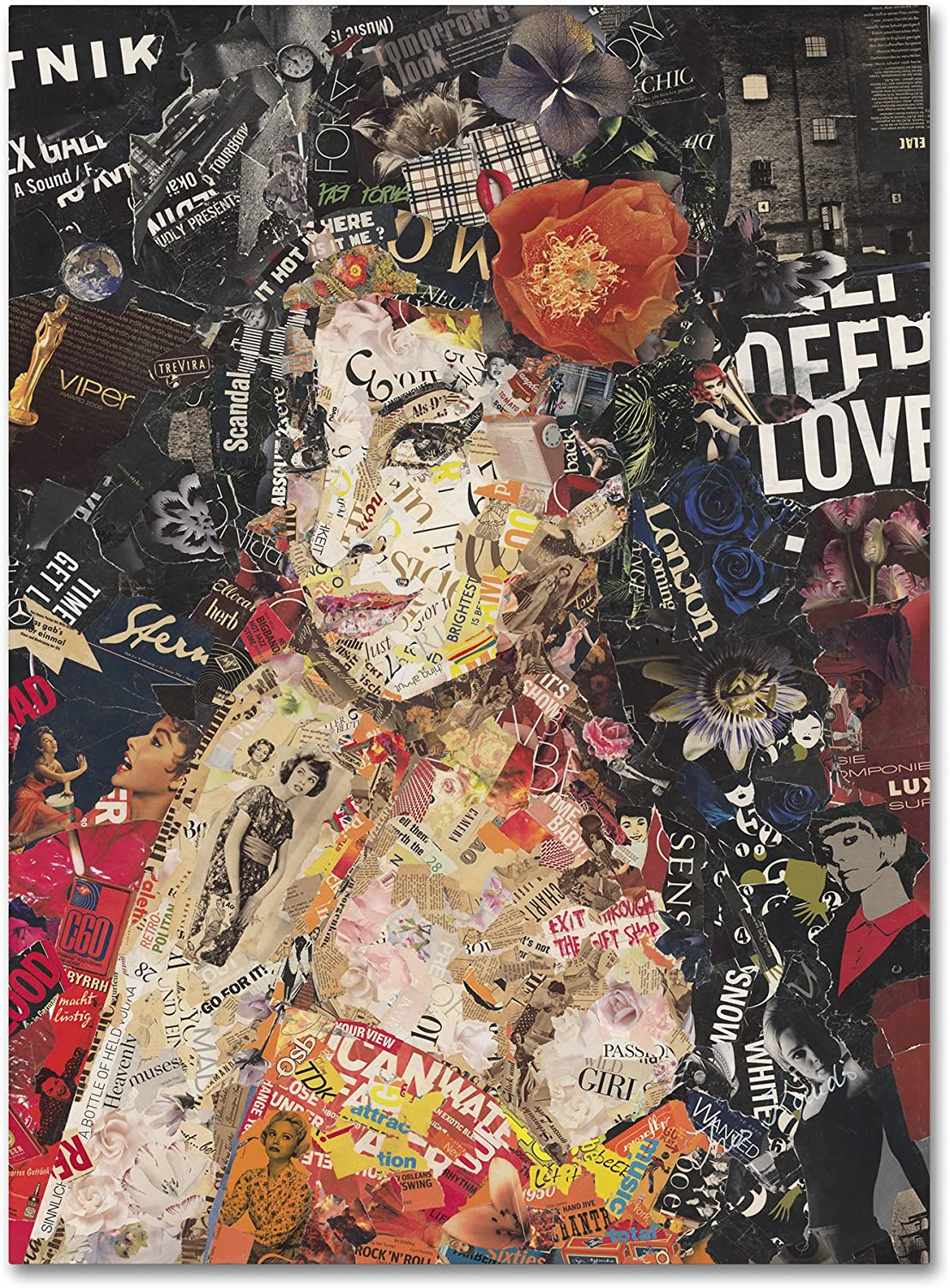"""Amy by Ines Kouidis Wall Decor, 14 by 19"""" Canvas Wall Art"""