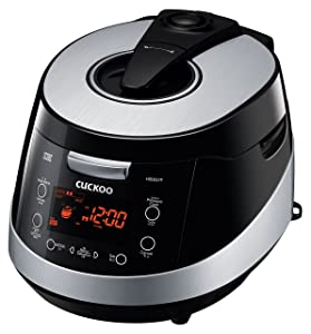 Cuckoo CRP-HS0657F 6 Cup Pressure Rice Cooker, 110V, Black