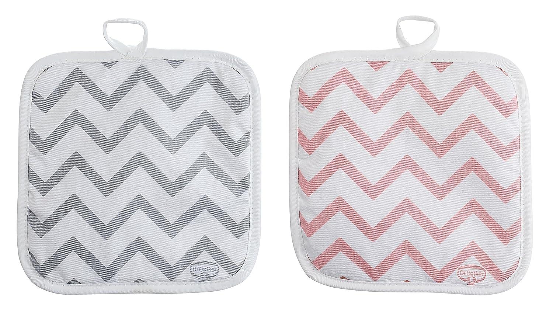 Menge: 1 St/ück Dr Retro Design Farbe: Grau//Rosa Baumwoll-Topflappen aus der Serie Modern Baking Oetker Topflappen