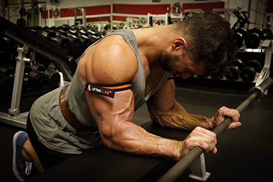 weight training with the Lifting Lab occlusion cuff