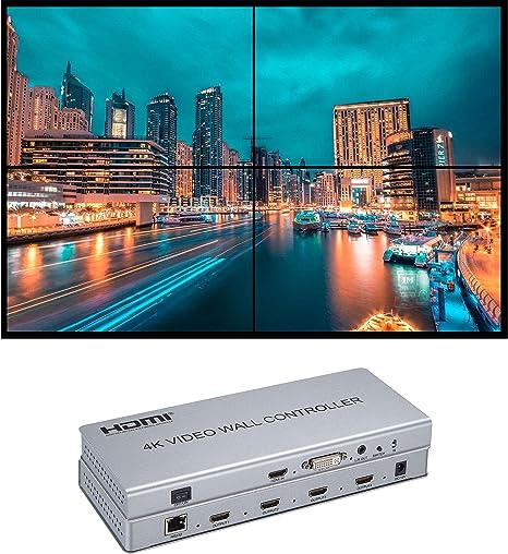 Video Wall Controller 2x2 4K Procesador HDMI 1.4 HDCP 1.4 Soporte ...