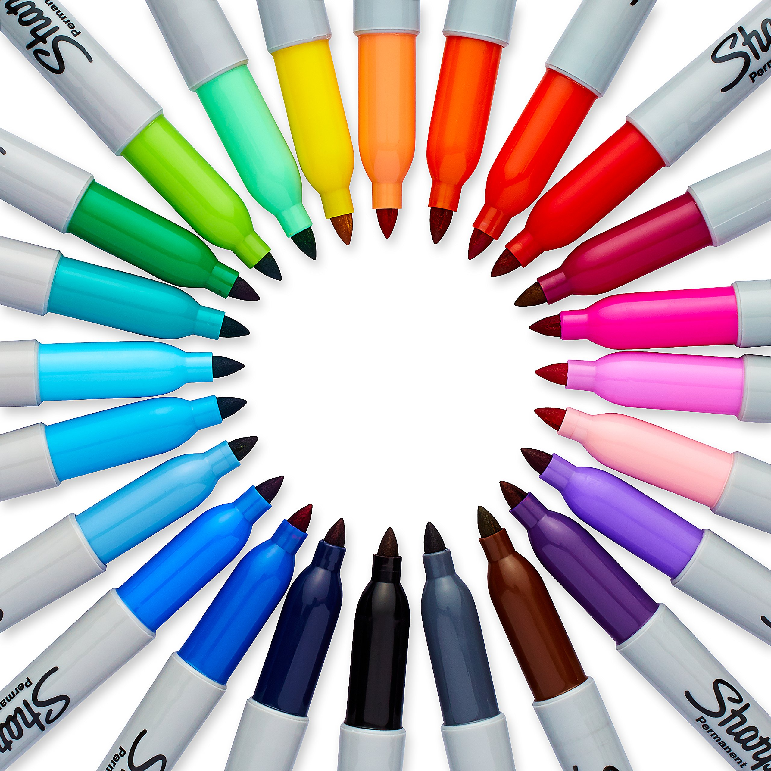 Sharpie Electro Pop Permanent Markers, Fine Point, Assorted Colors, 24 Count by Sharpie (Image #4)