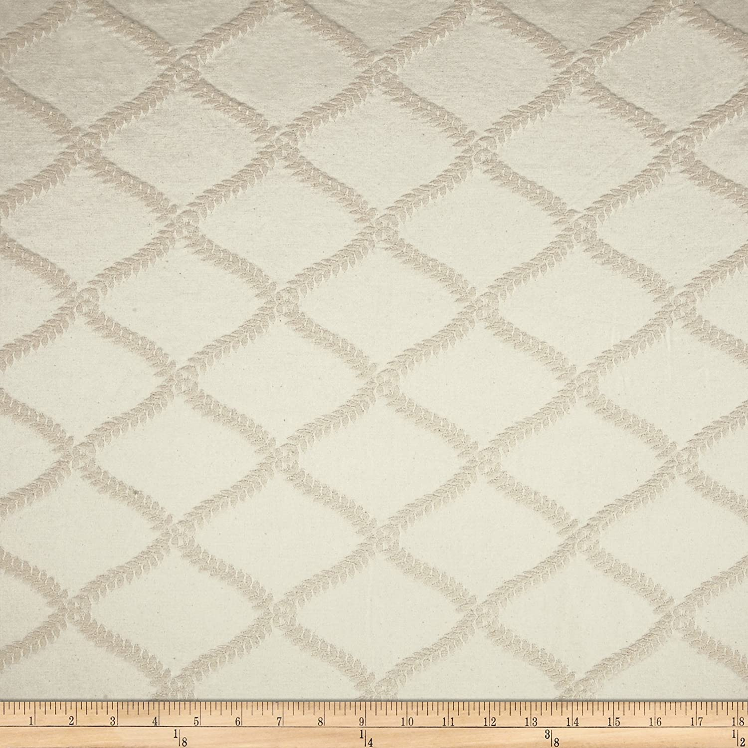 World Wide Naturally Washed Collection Sally Jacquard Natural World Wide Fabric