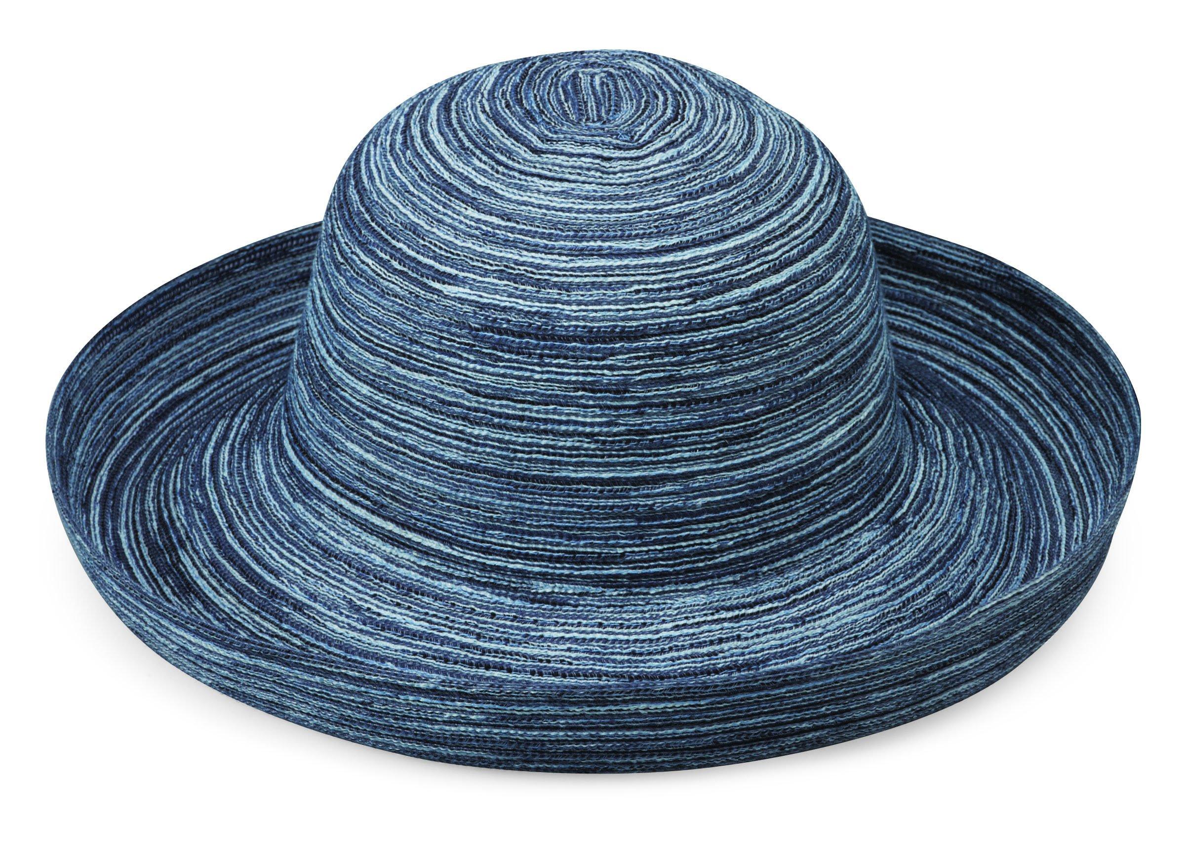 Wallaroo Hat Company Women's Sydney Sun Hat - Packable, Denim