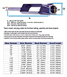 """MAX-CRAFT Tenon Dowel Plug Cutter 1-1/4"""" Inch Tenon Cutter Drill Bit Makes Tenons Dowels and Plugs Up to 3"""" Long Plugs Auto-eject for Furniture"""