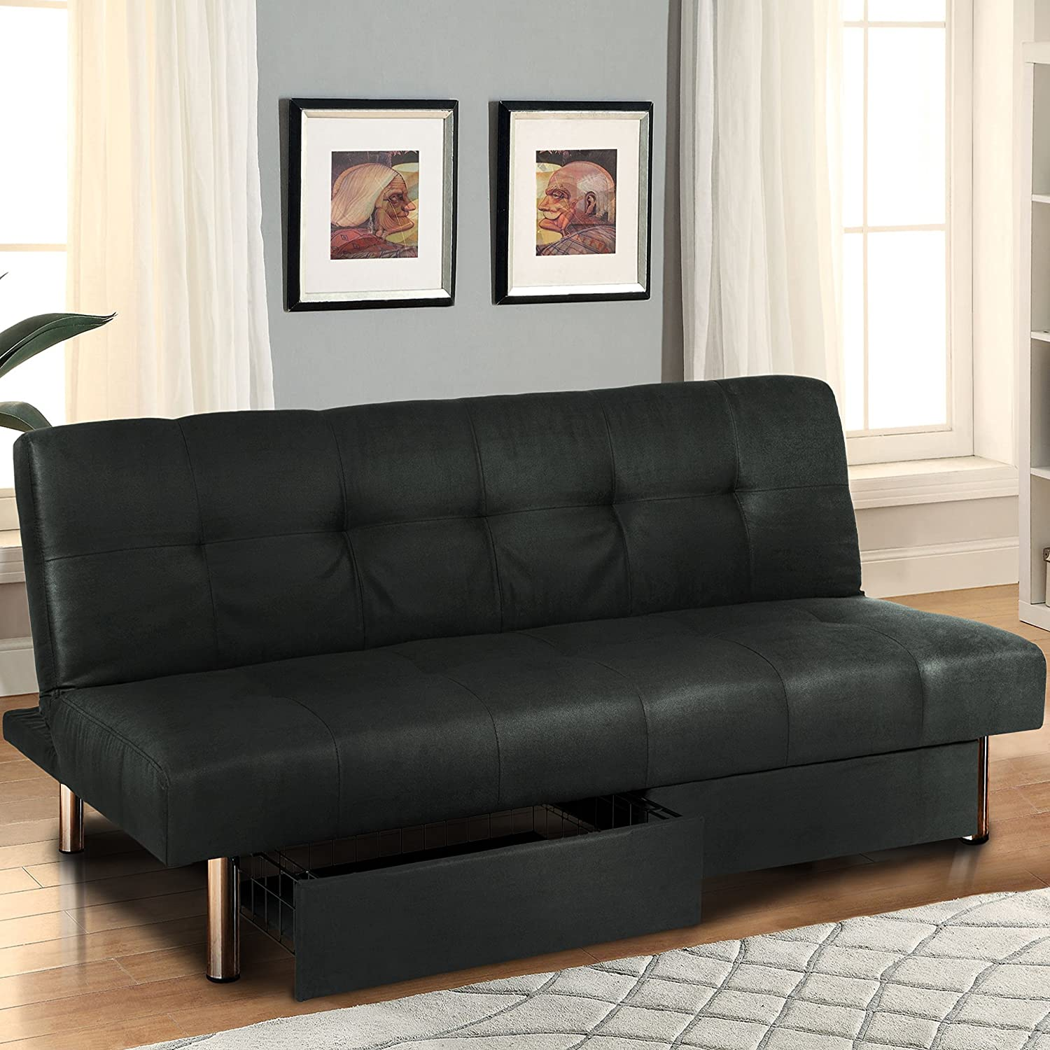 Amazon Best Choice Products Microfiber Futon Folding Sofa Bed