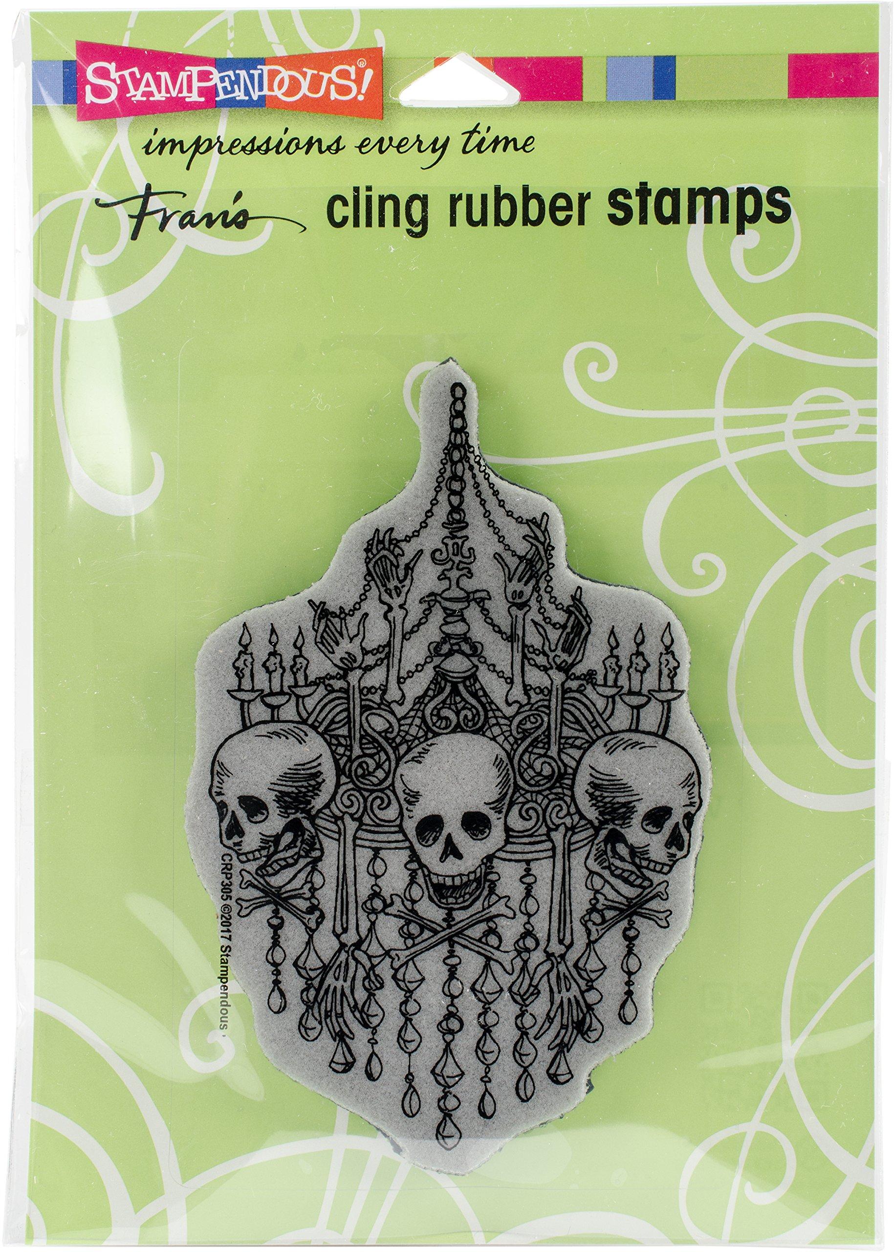 STAMPENDOUS Chandelier Skulls Cling Stamp