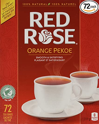 Canadian Red Rose Tea - 72 tea bags