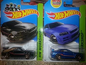 Hot Wheels Nissan Skyline GT R R34 In Black And Blue 2 Car Lot