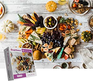 LogikThinkers 1000 Piece Adult Puzzle - Food Medley - Tasty Treats Collection - High Resolution Picture Built with Durable Materials - Kids 8 Up - Puzzle Size 27