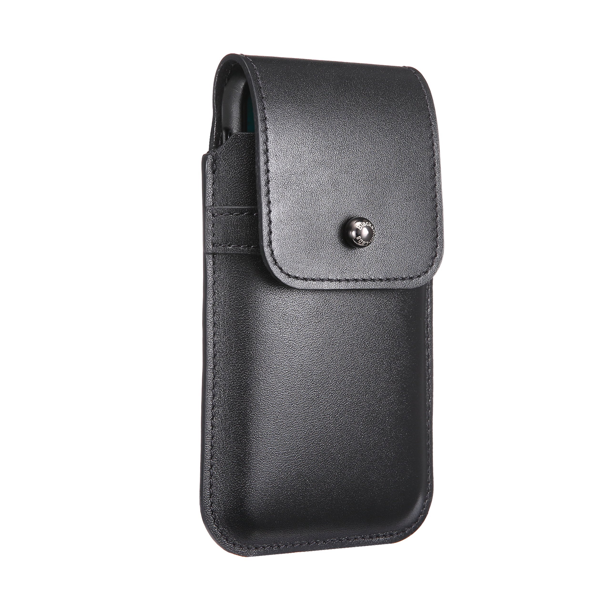Blacksmith-Labs Barrett Mezzano 2017 Premium Oversized Genuine Leather Swivel Belt Clip Holster for Apple iPhone X/Xs for use with Apple Leather Case - Black Cowhide, Gunmetal Belt Clip