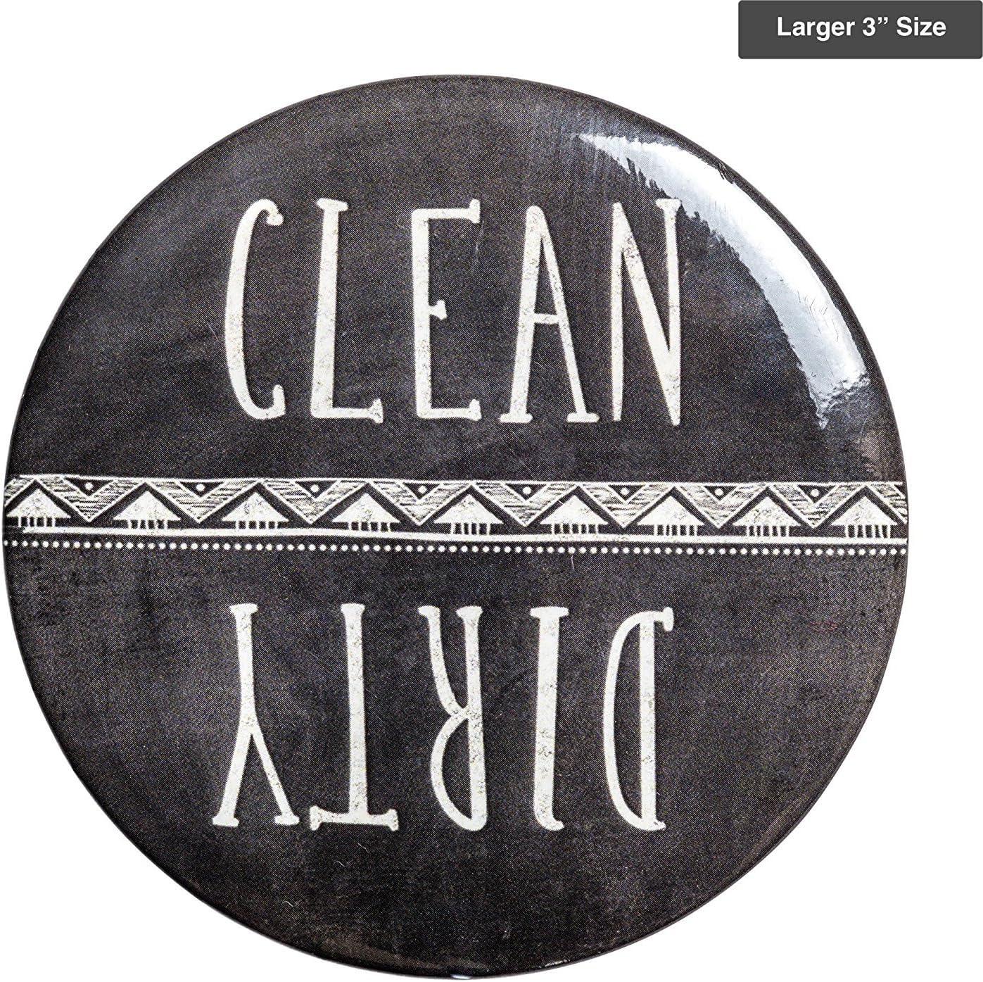 "Sutter Signs Clean & Dirty Dishwasher Magnet (Chalkboard) Large 3"""