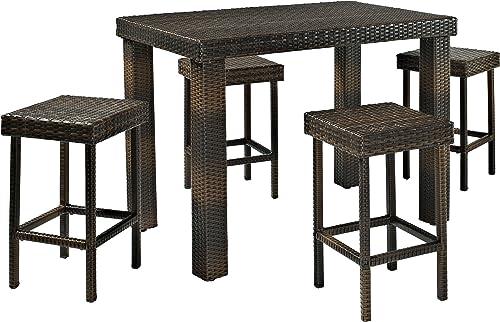 Crosley Furniture KO70010BR Palm Harbor Outdoor Wicker High Dining Set