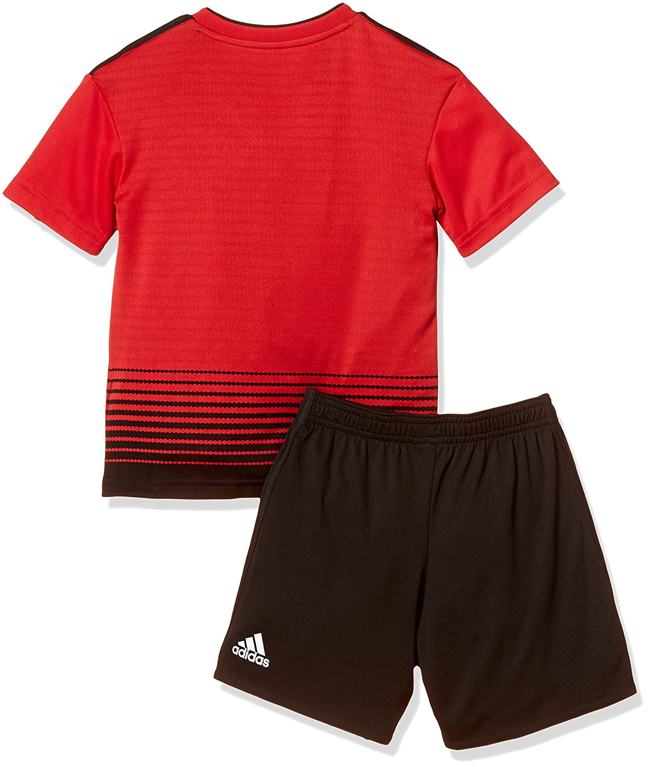 f7e567d67 Amazon.com  adidas 2018-2019 Man Utd Home Little Boys Mini Kit  Sports    Outdoors