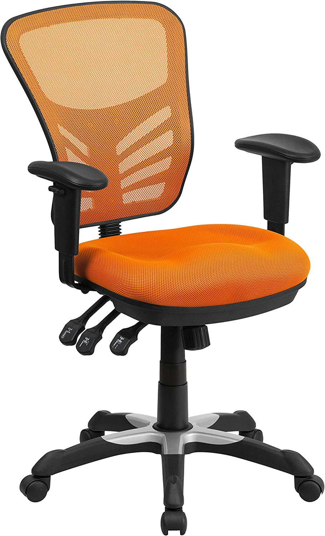 Flash Furniture Orange Mid-Back Mesh Chair