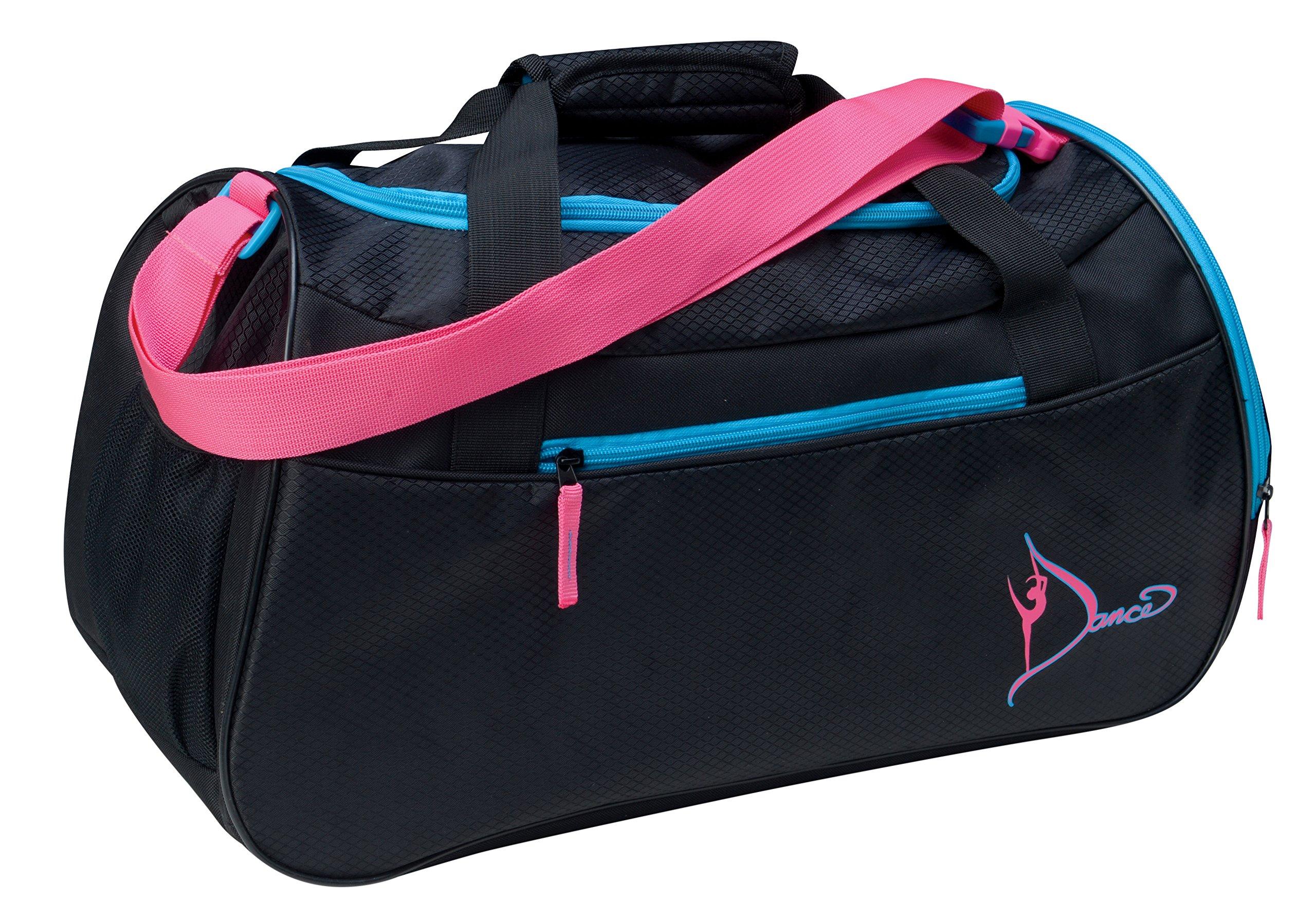 Dansbagz By Danshuz Women's Neon Dancer's Gear Bag, Black, OS