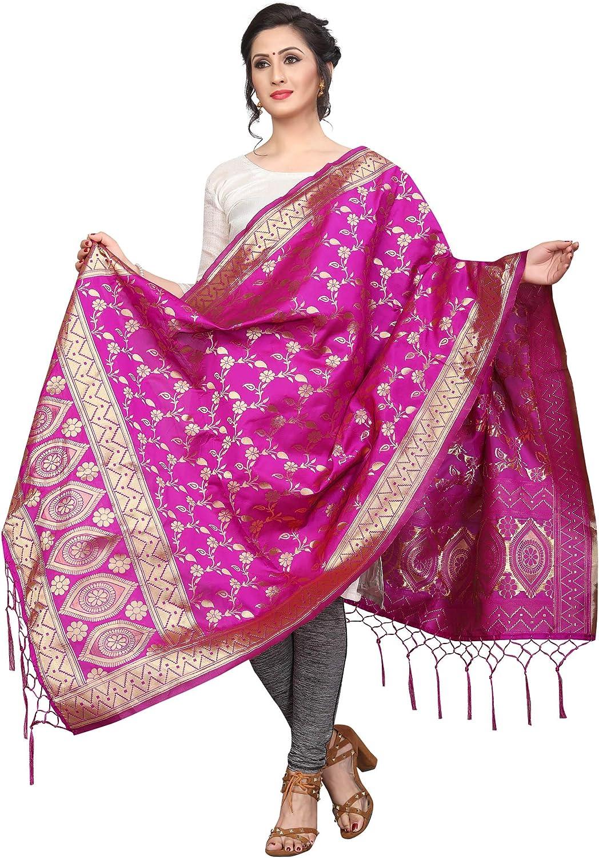 ziya Indian//Pakistani Heavy Ethnic Banarasi Dupatta Stole Scarf for Women D2