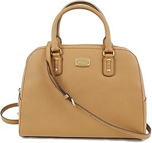 e34724866ea5 Michael Kors Ciara Large Top Zip Saffiano Leather Satchel (Black ...