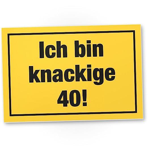 DankeDir!. Ich Bin deliciosas 40 años, plástico Cartel - 40 ...