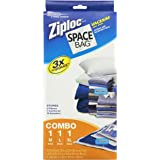 Space Bag #BRS-6239 Vacuum Seal Clear Storage Bags, Set of 3 (Medium, Large, Extra Large)