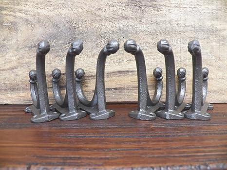 Lote de 6 Vintage bronce oscuro escuela granja de hierro ...