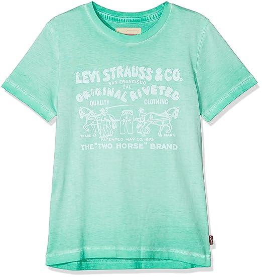 8417b7c271f48 Levi's - SS Bubble - T-Shirt - Garçon - Vert (Ming Green 54) - 14 ans  (Taille fabricant: 14A): Amazon.fr: Vêtements et accessoires