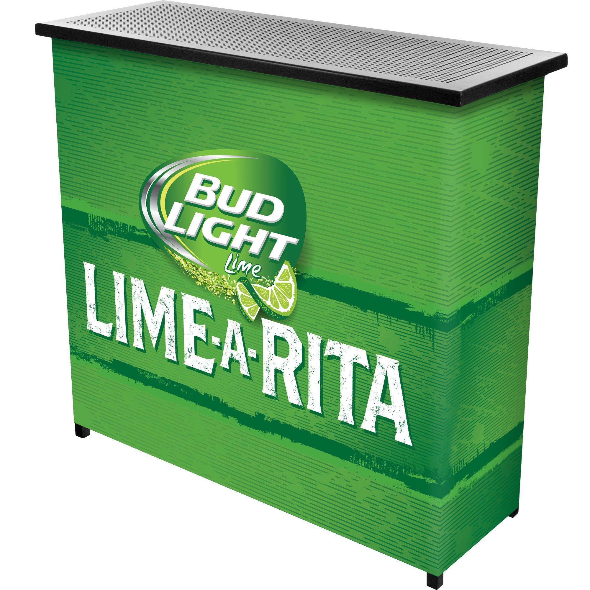 Trademark Gameroom Bud Light Lime-A-Rita 2 Shelf Portable Bar with Case by Trademark Gameroom