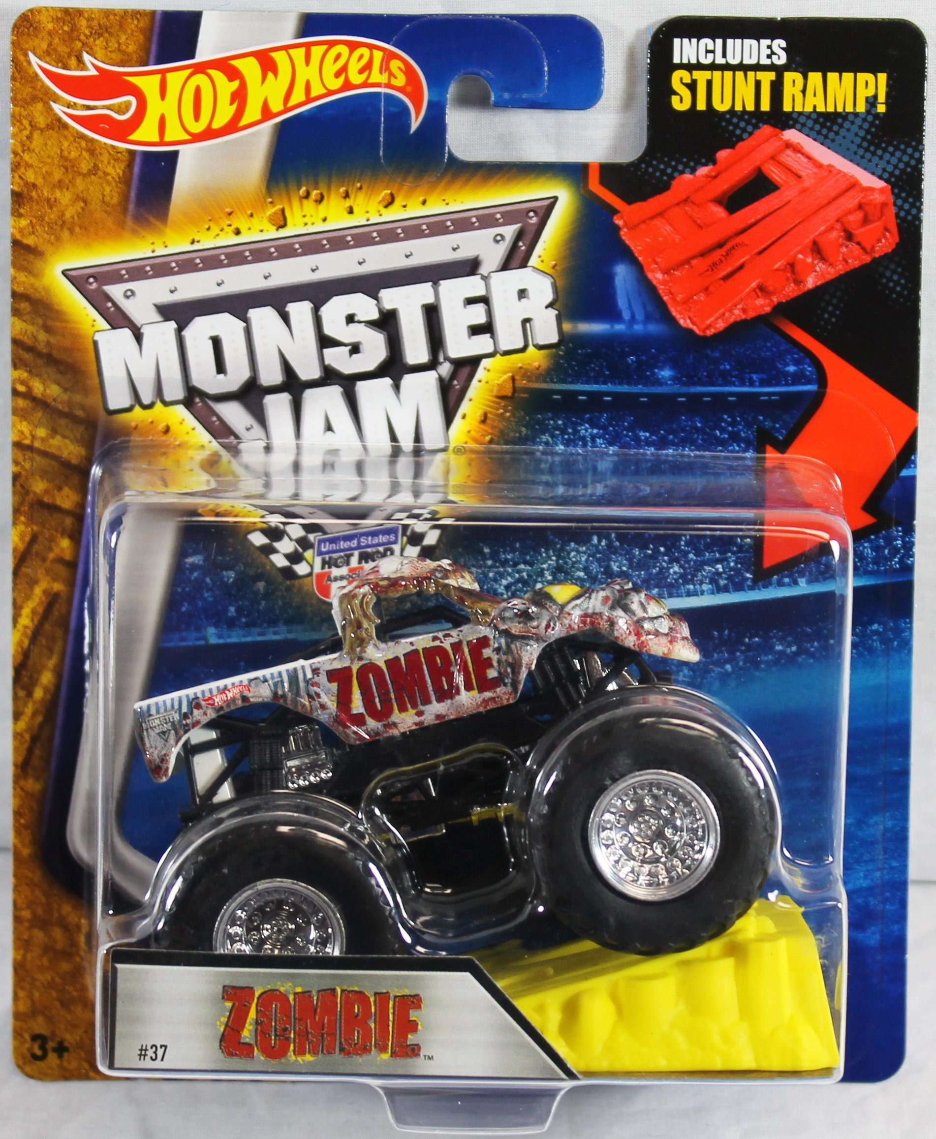Hot Wheels Monster Jam Zombie #37 with Stunt Ramp 1:64