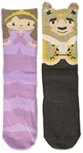 Beauty & the Beast Child's 18-36 Months Stretch Cotton Story Time Knee High Socks