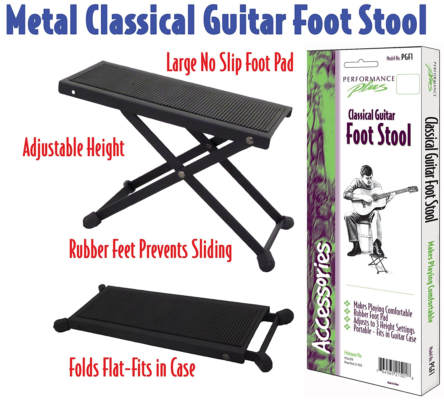 Amazon.com Performance Plus PGF1 Footstool Adjustable Height Black Metal Tour Grade Professional Musical Instruments  sc 1 st  Amazon.com & Amazon.com: Performance Plus PGF1 Footstool Adjustable Height ... islam-shia.org