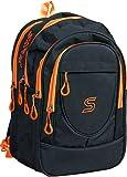SARA Black & Orange School Backpack