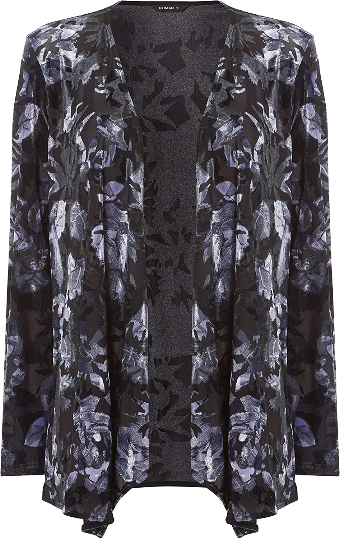 Roman Originals Animal Print Velour Tie Jacket
