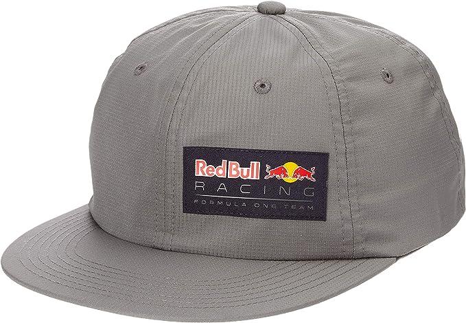 Red Bull Racing Letra Flat Cap, Gris Unisexo Talla única Flat Cap ...