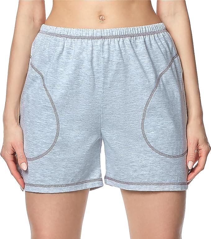 Merry Style Pantalones Cortos Shorts de Pijamas 100% Algodón Mujer ...