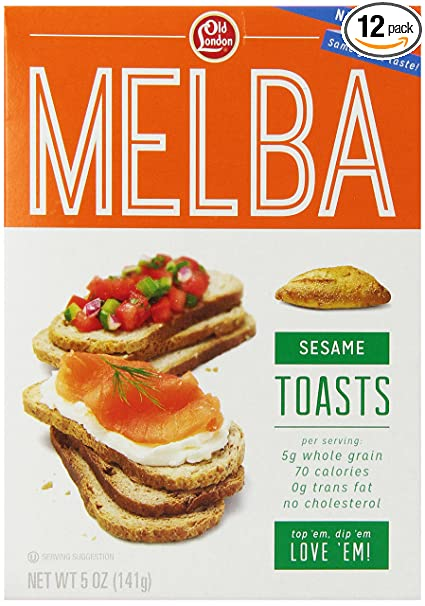 Amazon Old London Melba Toasts Sesame Pack Of 12 Crackers Grocery Gourmet Food