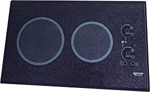 Kenyon B41540L 6-1/2 and 8-Inch Lite-Touch Q 2-Burner Cooktop with Landscape Mounting Touch Control, 120-volt, Black