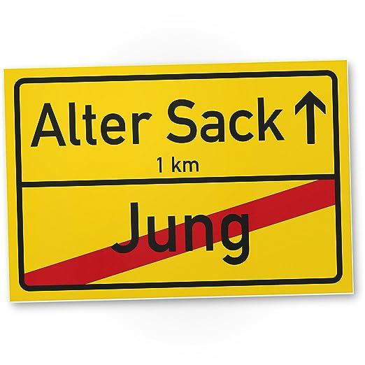 Dankedir Alter Sack Jung Ortsschild Lustiges Kunststoff Schild
