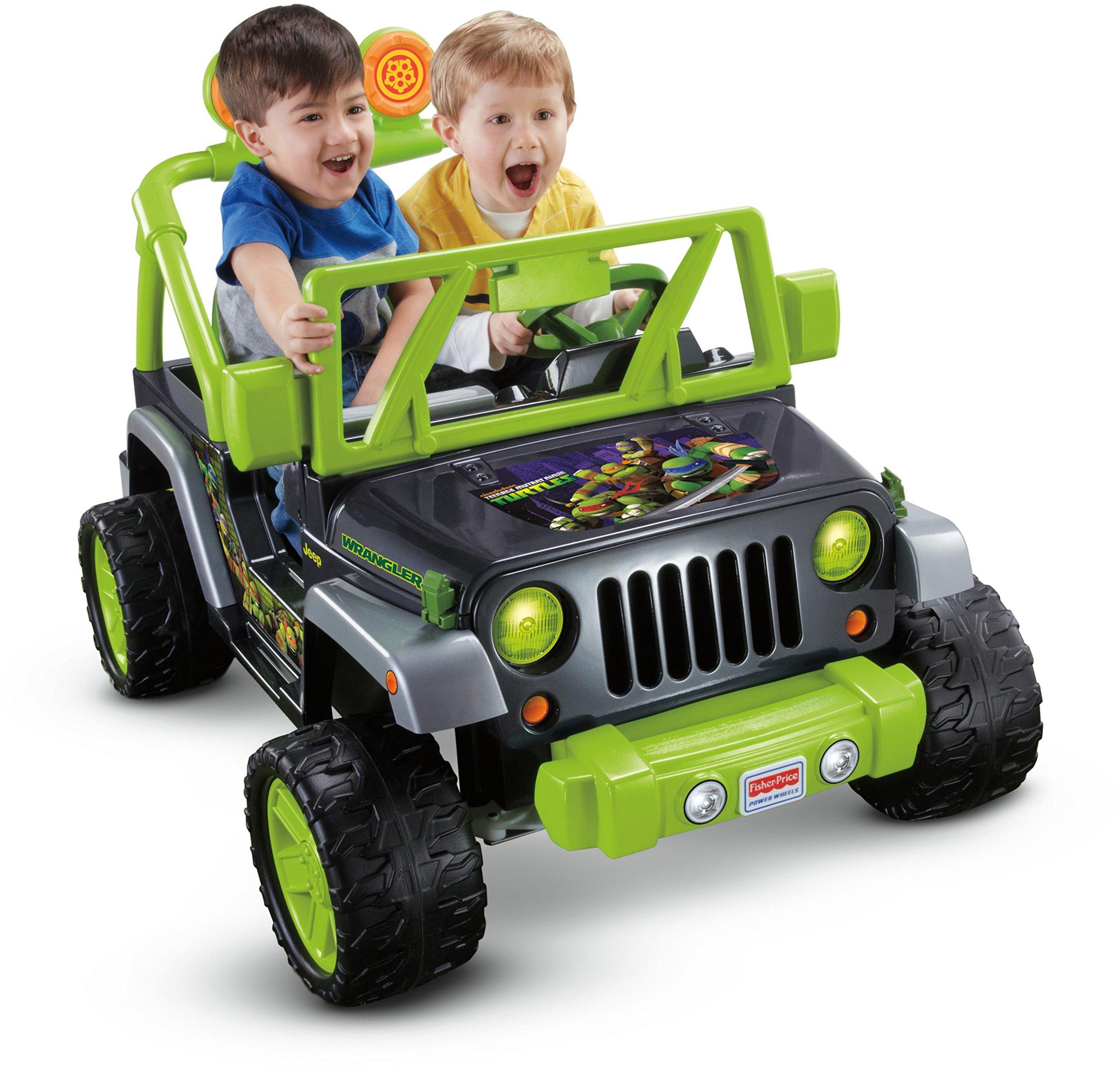 Fisher Price Power Wheels Teenage Mutant Ninja Turtle Jeep Wrangler by Power Wheels