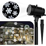 Centeni Christmas Projector Light Christmas Outdoor Night Snowflakes Projector Light 14 Slides for Christmas Holiday Party Decoration