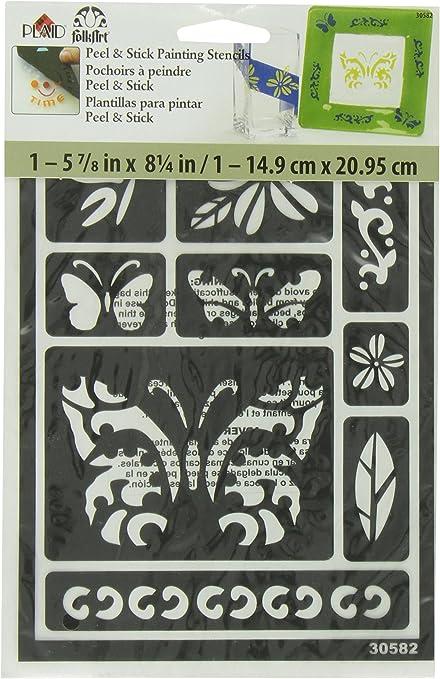 """Americana Decor Stencil 12/""""X12/""""-Fleur De Lis Tile ADS-04"""